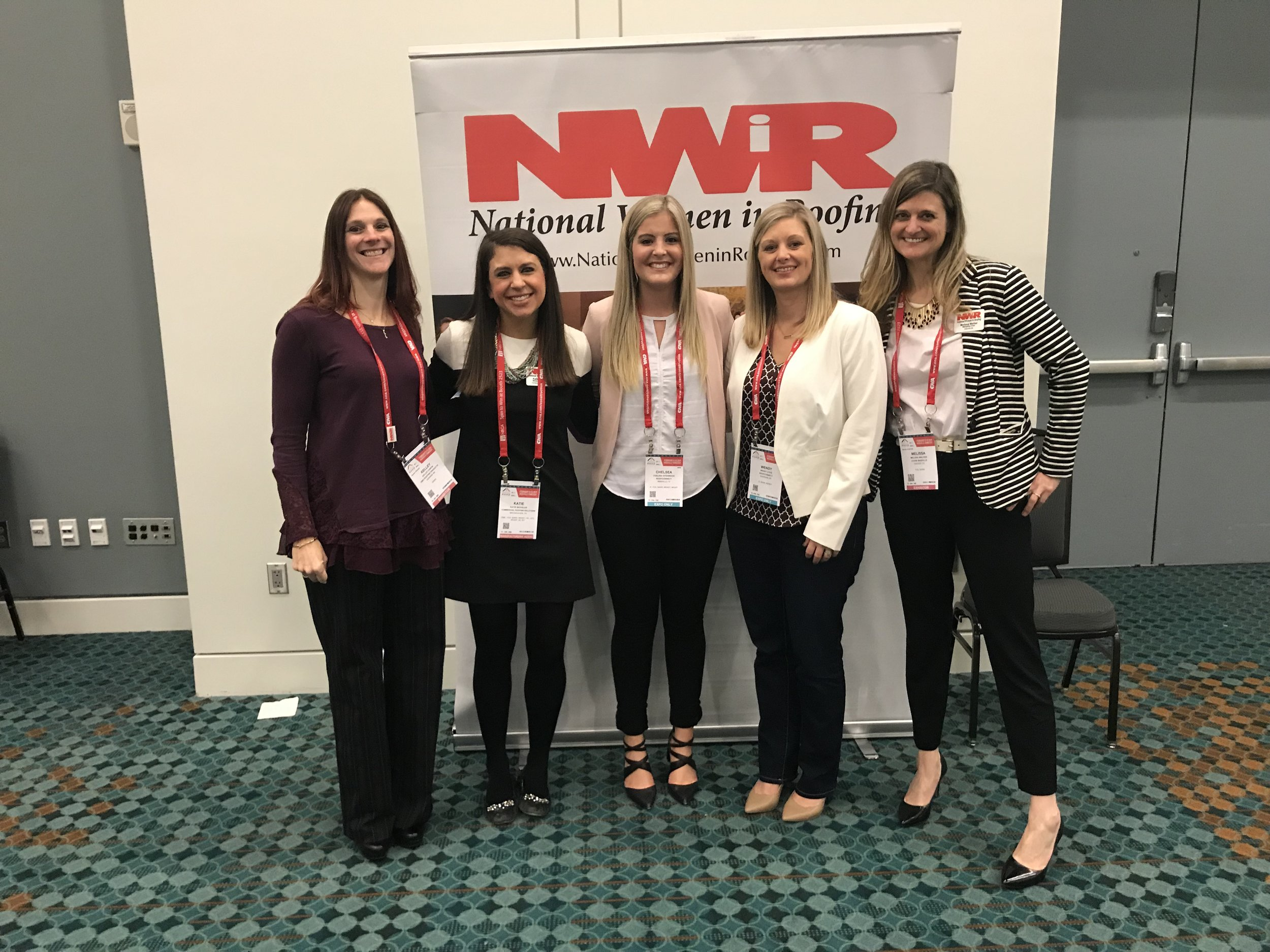 NWIR 2019 Mentorship Commitee - From left to right:Kelley Caron, Katie Bicksler, Chelsea Steinbock, Wendy Lites, Melissa Walker