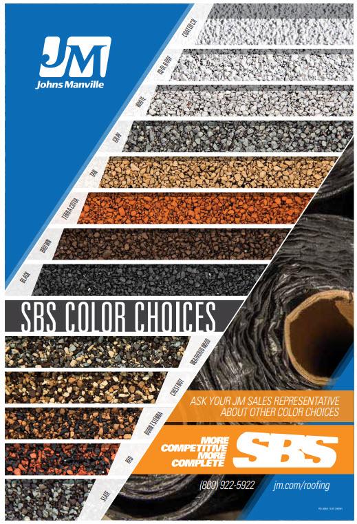 SBS Granule Color Chart