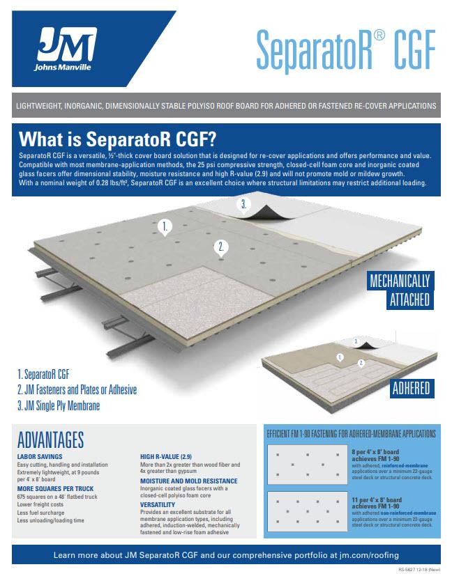 SeparatoR CGF Advantages