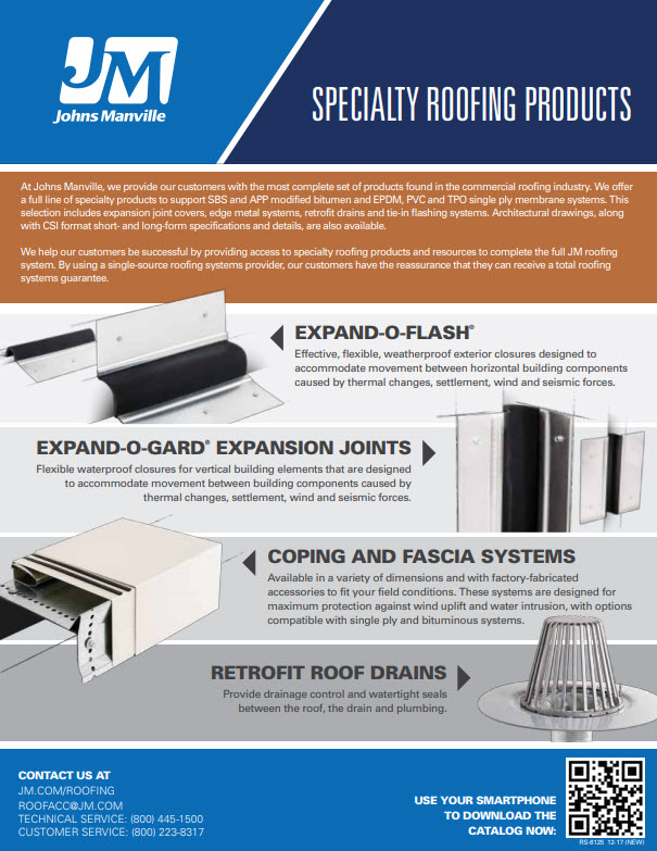 Specialty Roofing Products Advantages