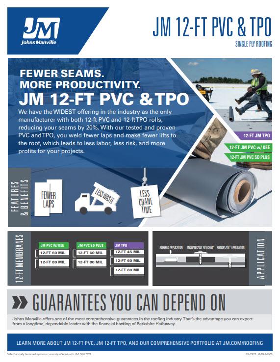 JM TPO and PVC 12' Advantages