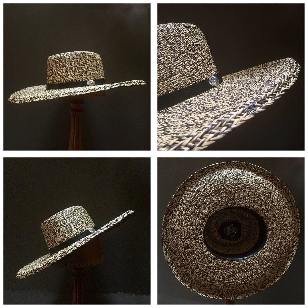 Weave: Perdiz Grade: N/A Brim Set: Naturalist with an under-curl Trim: Leather with Sterling Silver Concha