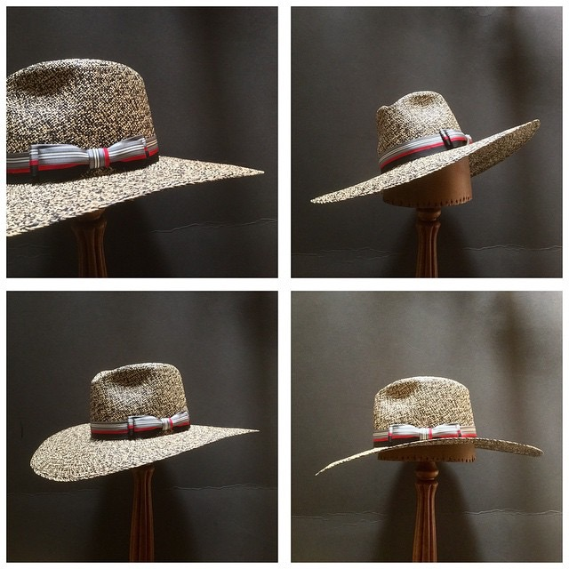 Weave: Perdiz Grade: N/A Brim Set: San Ann Trim: 2 inch Grosgrain Ribbon with Double Double Back Bow