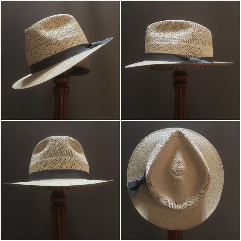 Weave: Semi-Colado Grade: 12 Brim Set: Low Cup and Snap Trim: 7/8 inch Grosgrain Ribbon
