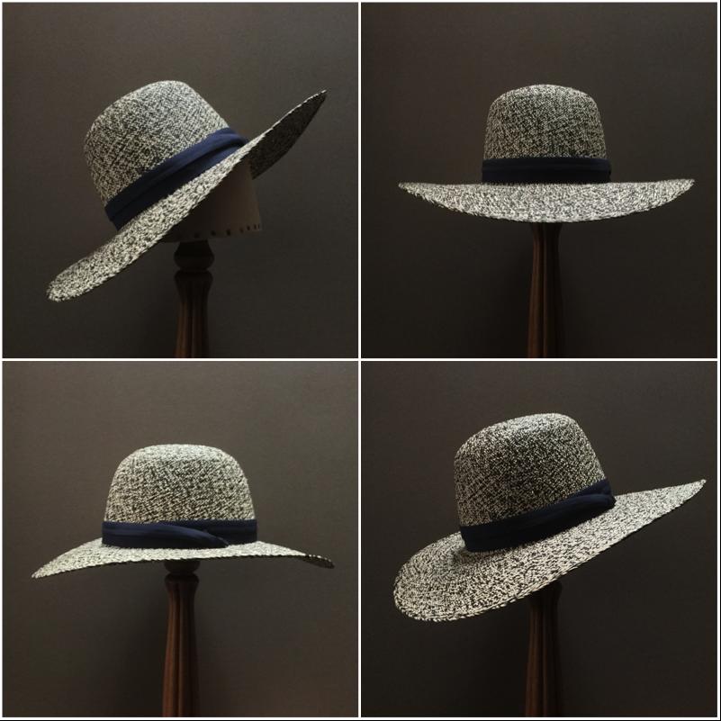 Weave: Perdiz Grade: N/A Brim Set: San Ann Trim: Cotton Puggaree