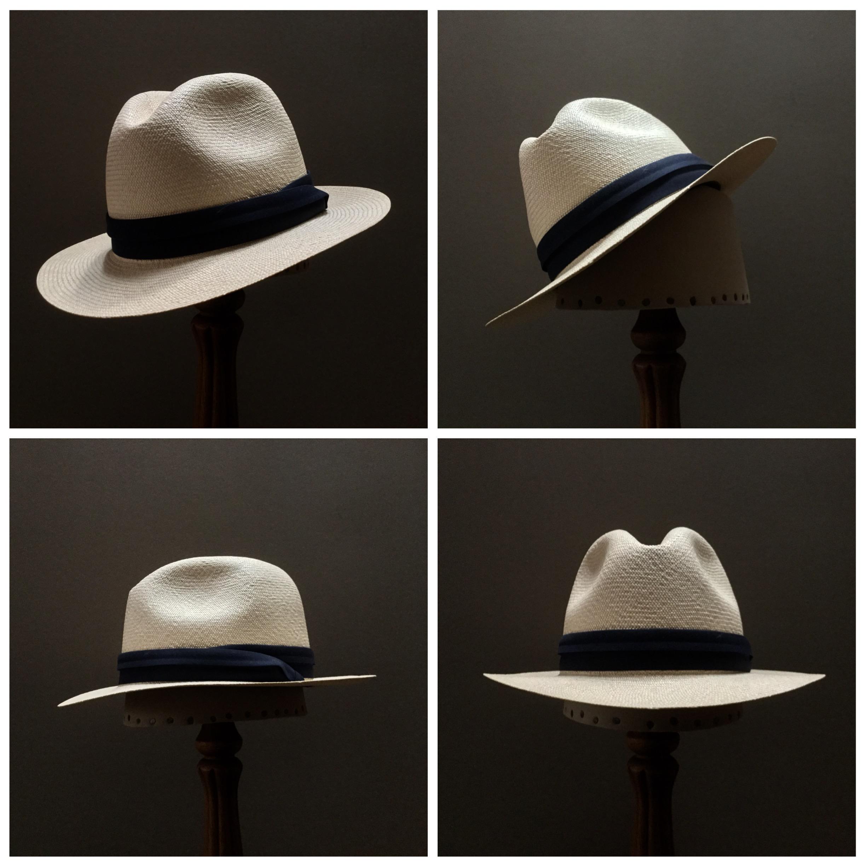 Weave: Cuenca Grade: 12 Brim Set: Naturalist Trim: Cotton Puggaree