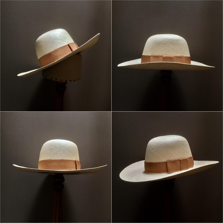 Weave: Cuenca Grade: 12 Brim Set: #76 Trim: 1 1/2 inch grosgrain ribbon with sport bow