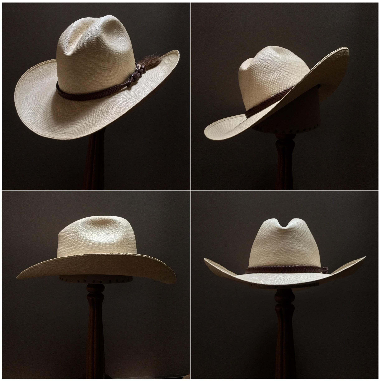 Weave: Cuenca Grade: 10 Brim Set: Westin Trim: Braided leather
