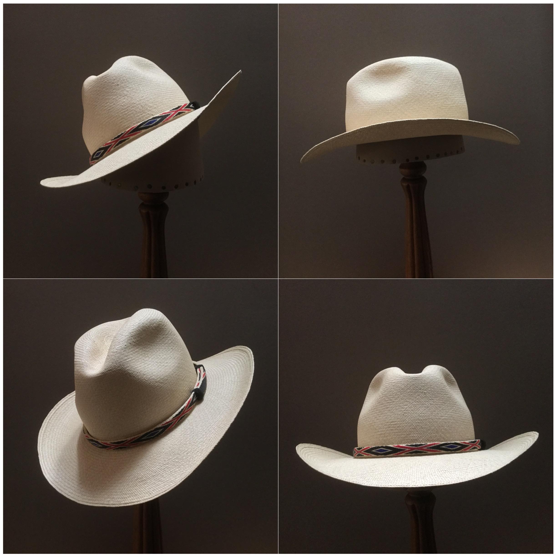 Weave: Cuenca Grade: 14/16 Open Block: CH Brim Set/Width: Vogue/ 3 inches Trim: Hitched horsehair