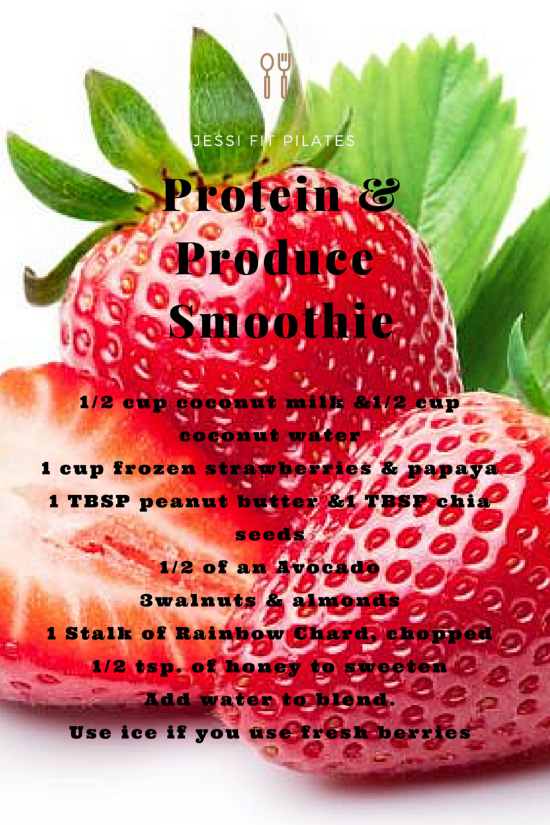 Jessi Fit Pilates Protein & Produce Smoothie
