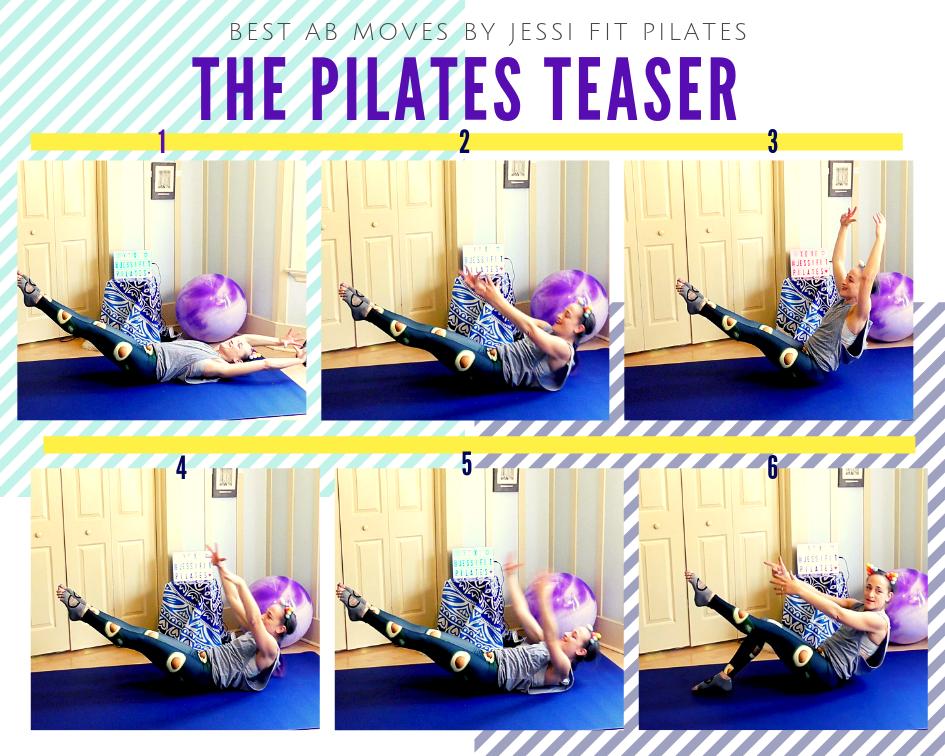 teaser best ab exercise jessi fit pilates