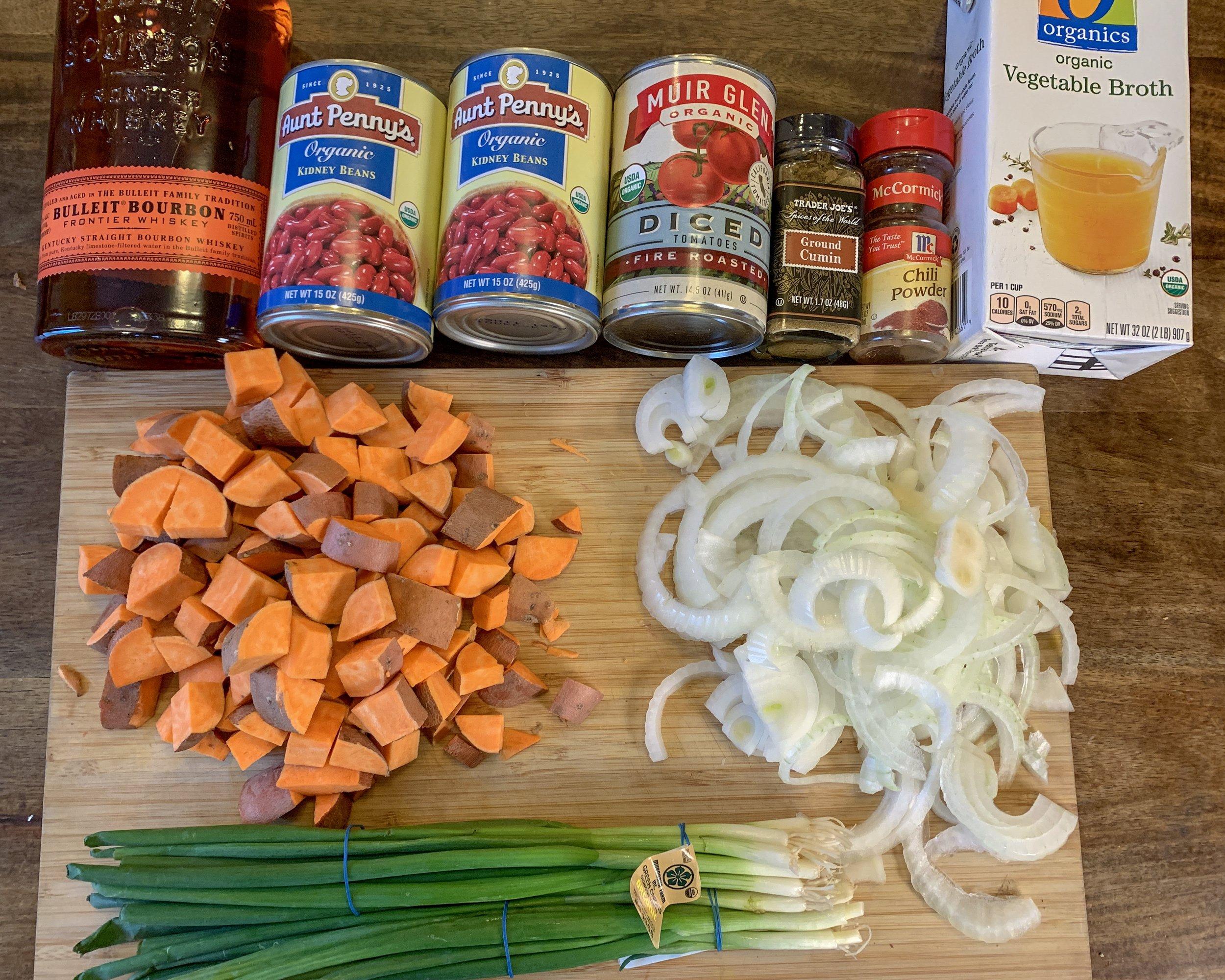 ingredients for vegan gluten free chili
