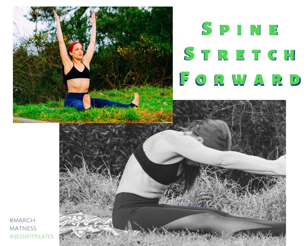 spine stretch forward #marchmatness pilates exerise