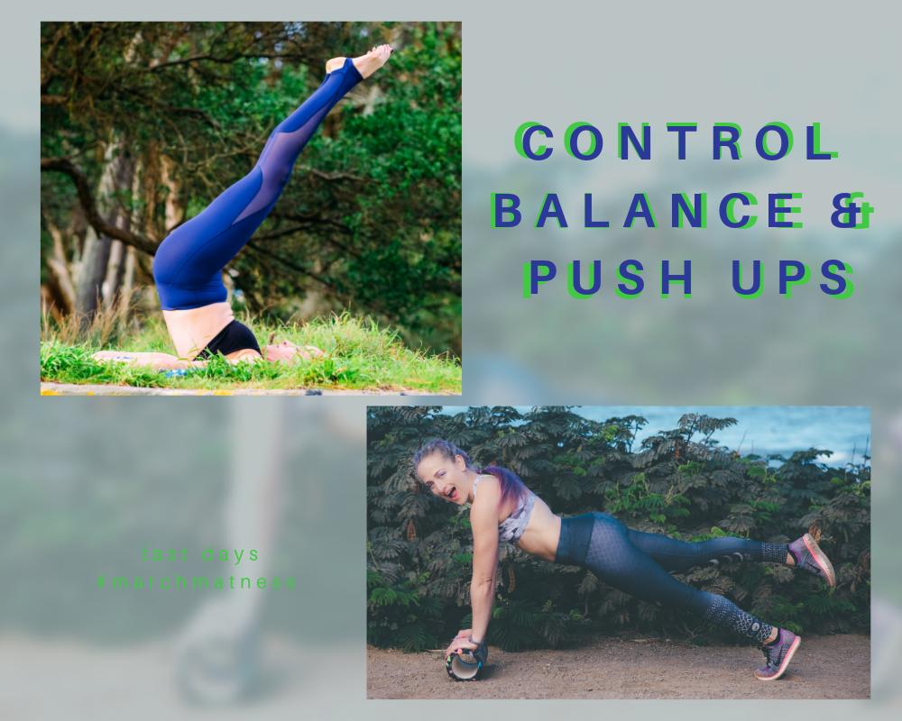 blog control balance push ups  for pilaes march matness pilates blogger