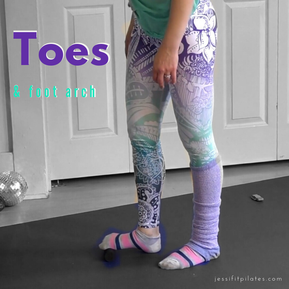 Toes & Arches - This is great if you've been wearing heels!