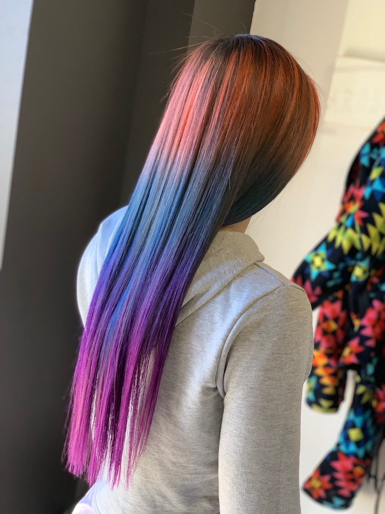 ombre rainbow hair jessi fit pilates