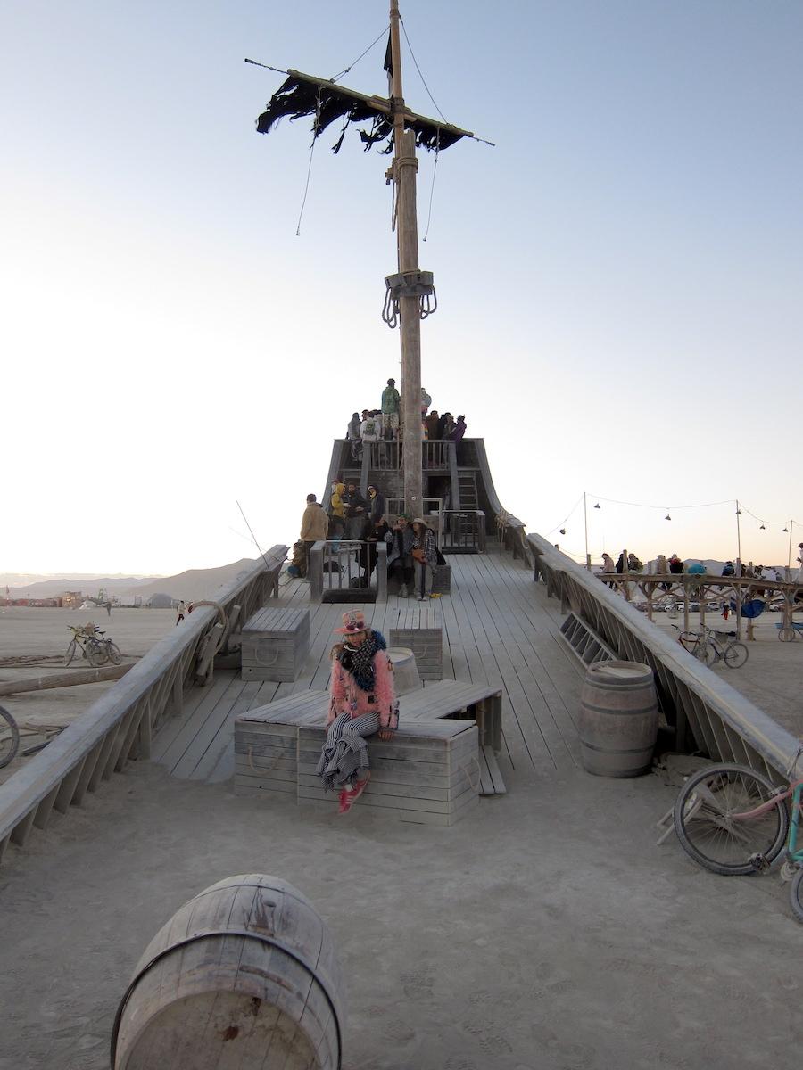 Pirate Ship Burning Man 2012