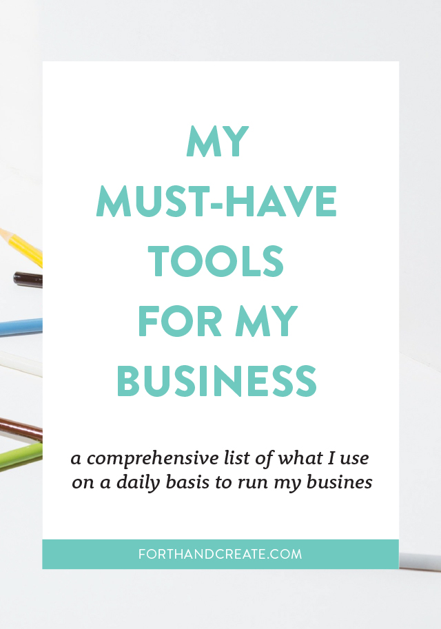 Click through to find out what my favourite creative business tools are. Business | Blog | Tools