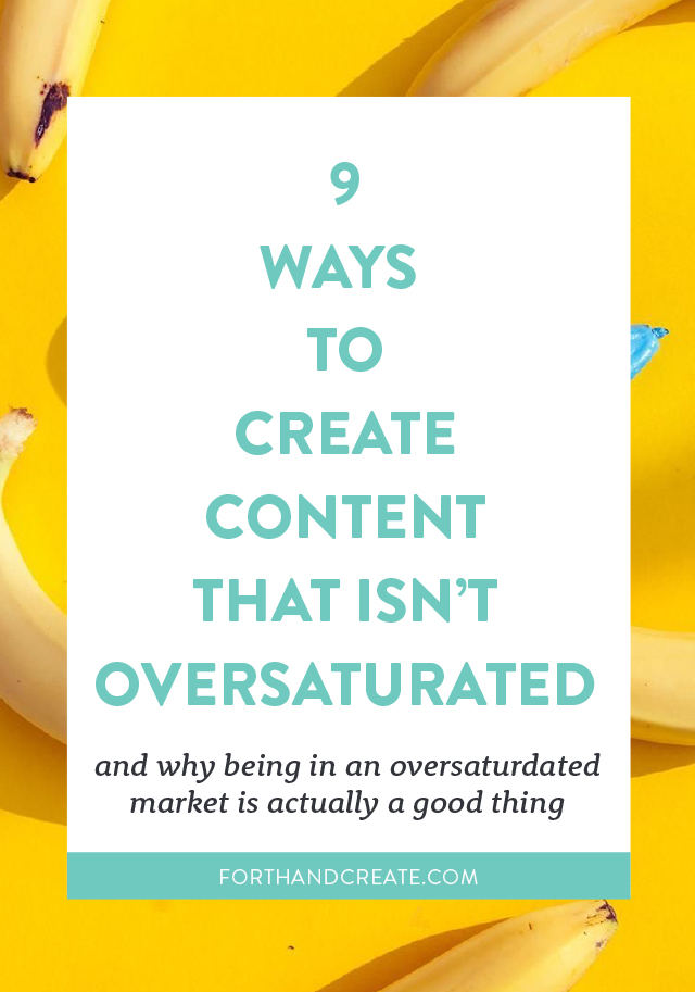 Struggling to create content that isn't oversaturated? Click through to read 9 ways on how to create content that isn't oversaturated.