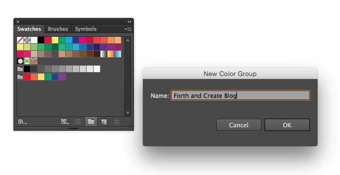 Create a colour palette using Illustrator