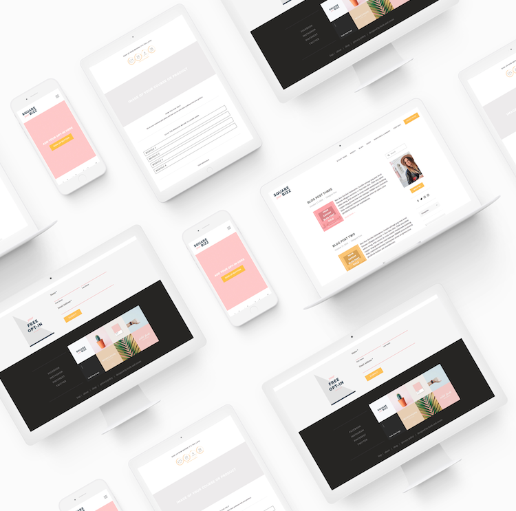 Square Your Bizz Squarespace template by Forth and Create