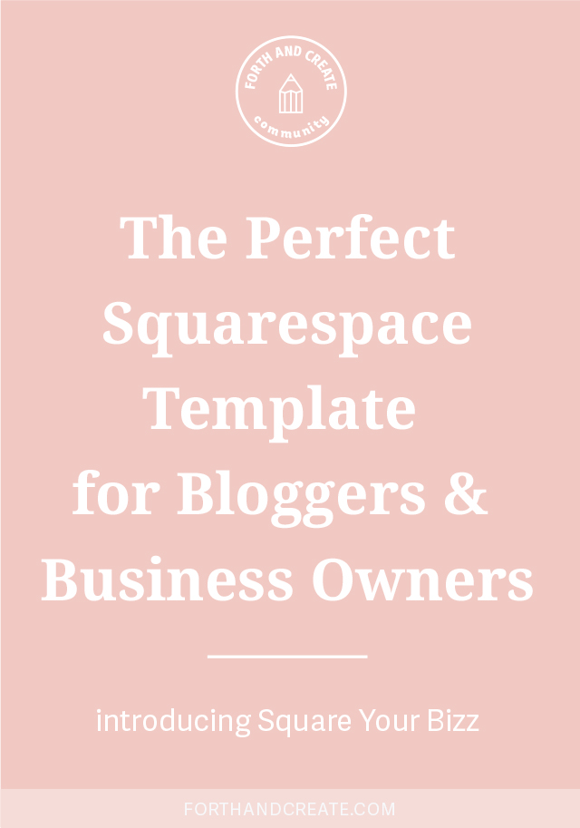 Square Your Bizz is the perfect Squarespace template for bloggers and business owners. Easy to set up with video instructions! Click through to learn more about this Squarespace kit. #squarespace #squarespacekit #Squarespacetemplate #website #websitedesign