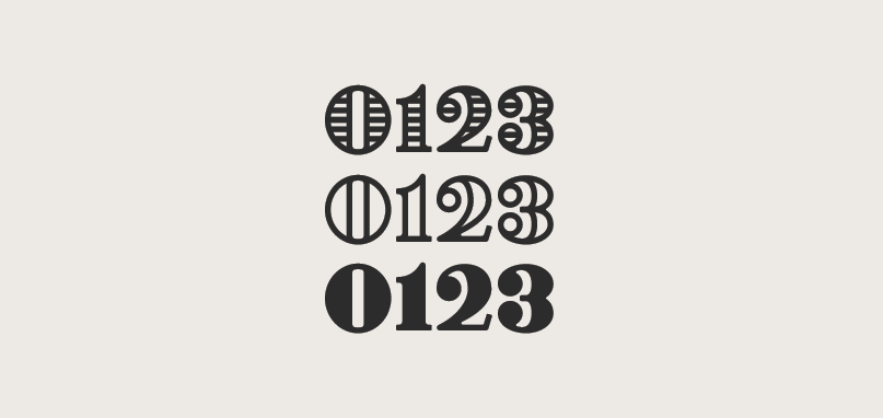 Free Numeral Font
