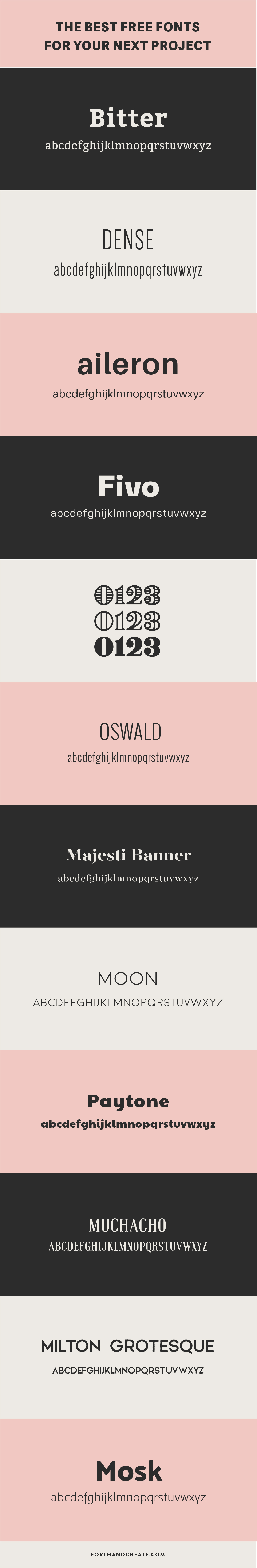 The best free fonts for your next project. Click through to get the download link.