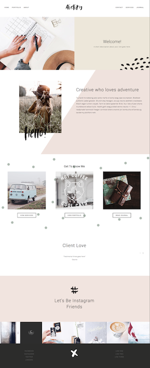 Aisling Squarespace Template | Forth and Create.