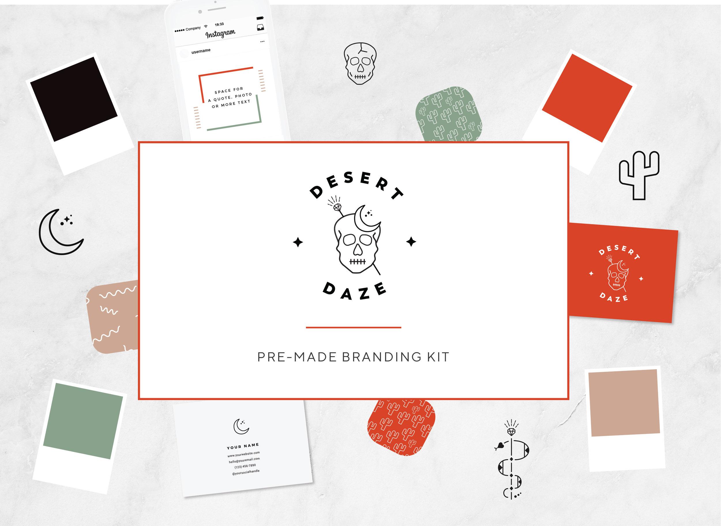 Desert Daze OOAK Brand Kit