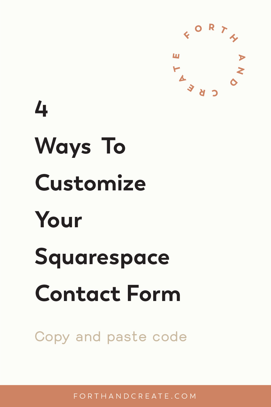 4 Ways To Customize Your Squarespace Contact Form #Squarespace #contactform #Squarespacetip #Websitedesign