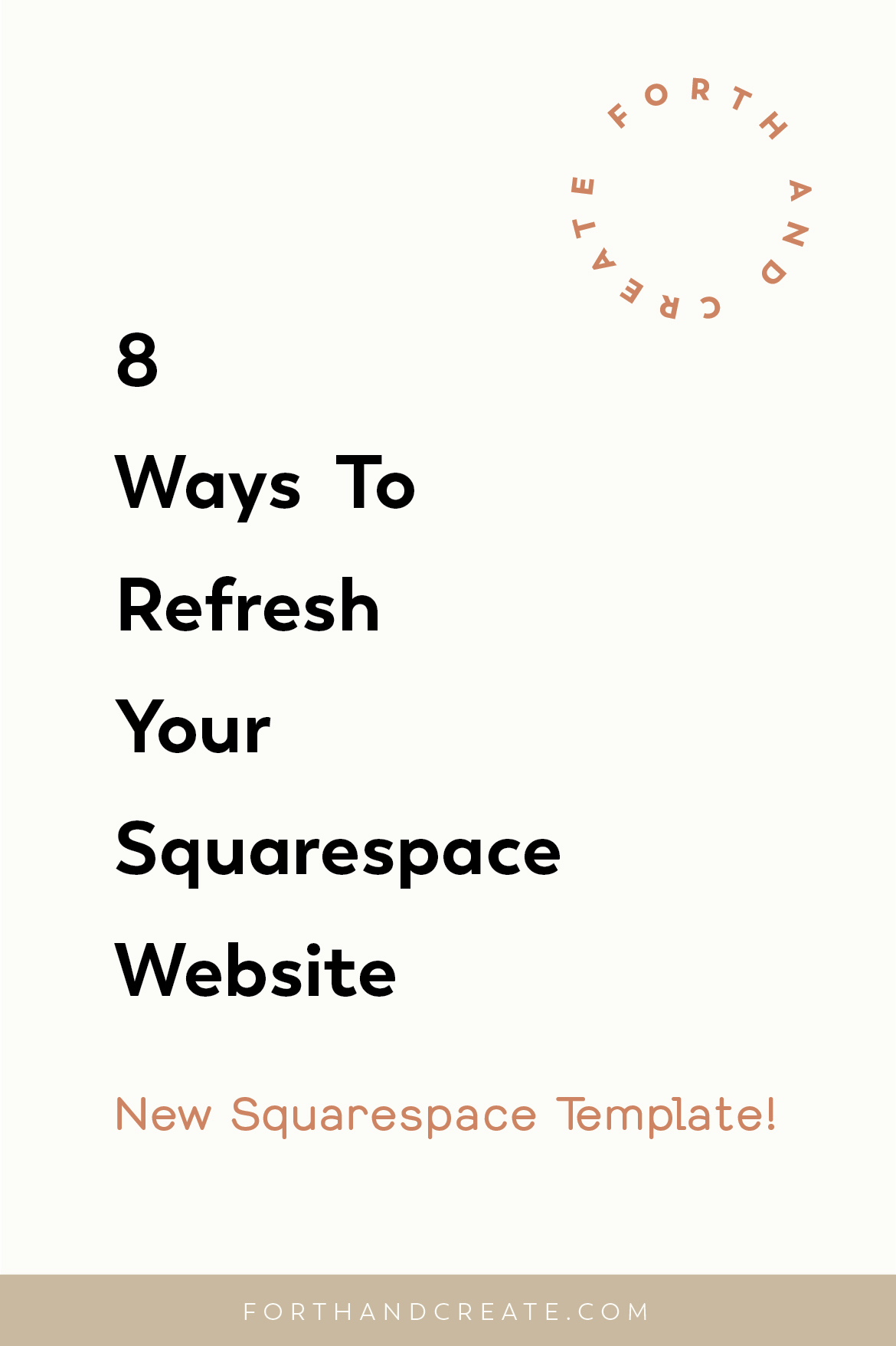 8 ways to refresh your Squarespace website. Easy tips to give your Squarespace template a fresh new look. #Squarespace #Squarespacetips #websitedesign #Squarespacedesigner