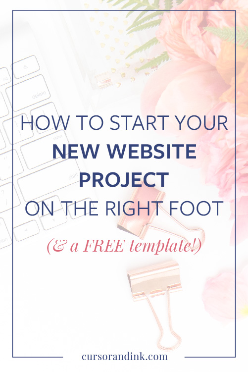 If you're getting ready for a new website for your blog or creative business, the first step is to build out an organized plan for the project that you can share with them before you decide to work together. This post walks you through what you should include, plus a free template to get you started. Read now, or pin this to save it for later!
