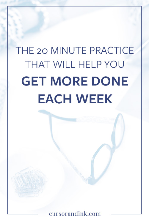 A Weekly Review doesn't take much more than 20 or 30 minutes to do — but it gives me focus and momentum going into the next week that I just wouldn't have otherwise. If you're wondering how to increase your productivity as a blogger or business owner, this post is for you! Click through to read my process now.