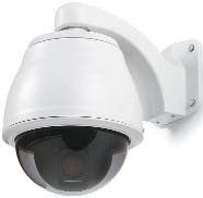 PTZ  - Pan/tilt/zoom cameras are very versatile. PTZ cameras can pan (move left and right), tilt (move up and down), and zoom in or out. Additionally, PTZ cameras can rotate 360 degrees to view an object directly below them. Indoor and outdoor options are available.