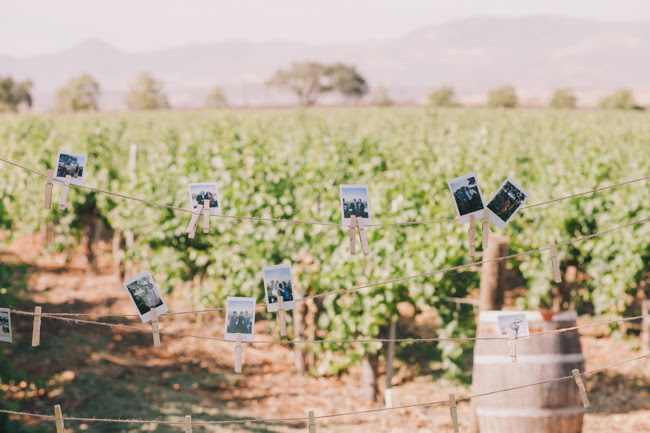 J Wiley Photography Gainey Vineyard Wedding Felici Events Polaroid Photo Idea