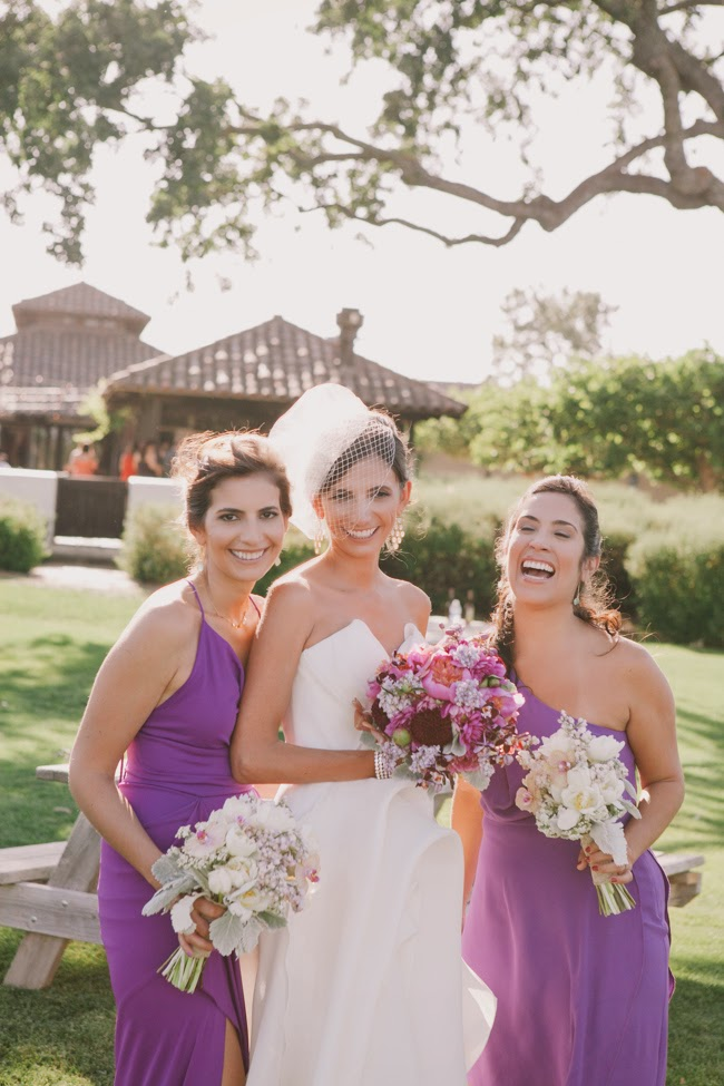 J Wiley Photography Gainey Vineyard Wedding Felici Events bridesmaids purple dresses