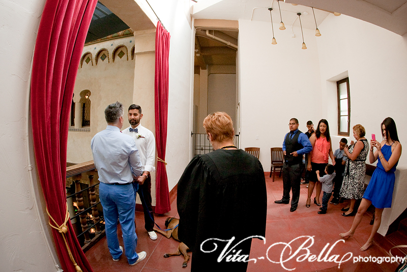 santa barbara courthouse gay wedding groom ceremony