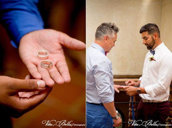 santa barbara courthouse gay wedding ring exchange