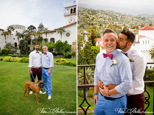 santa barbara courthouse gay wedding tower top