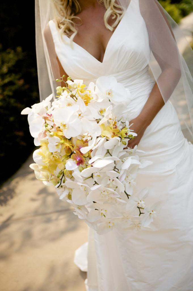 cascading orchid bridal bouquet felicievents.com