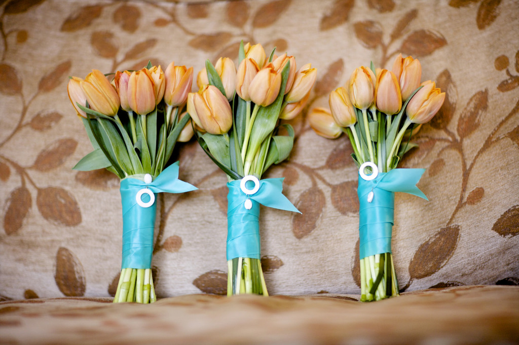 tulip bridesmaid bouquet