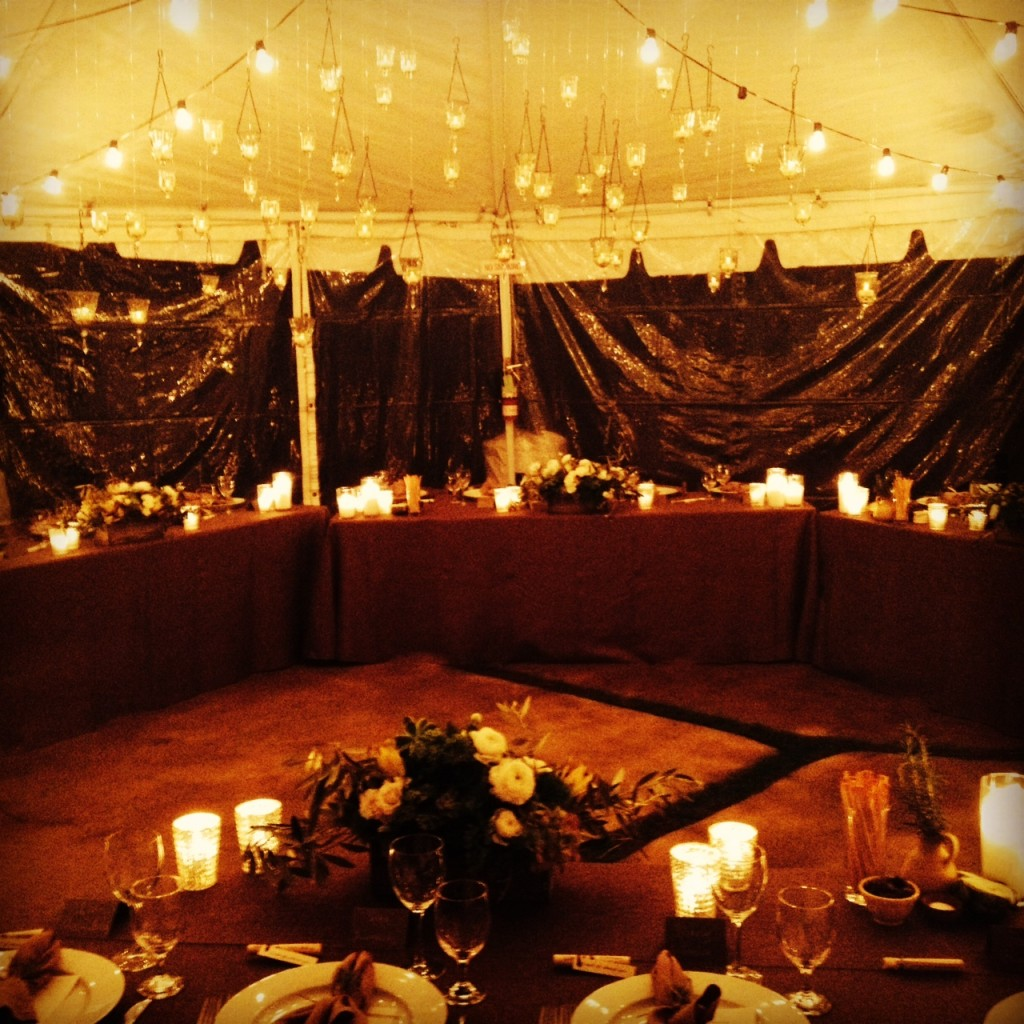 Felici Events Birthday inside tent