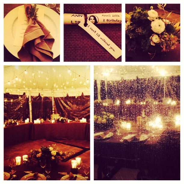 Felici Events decor table setting details Collage