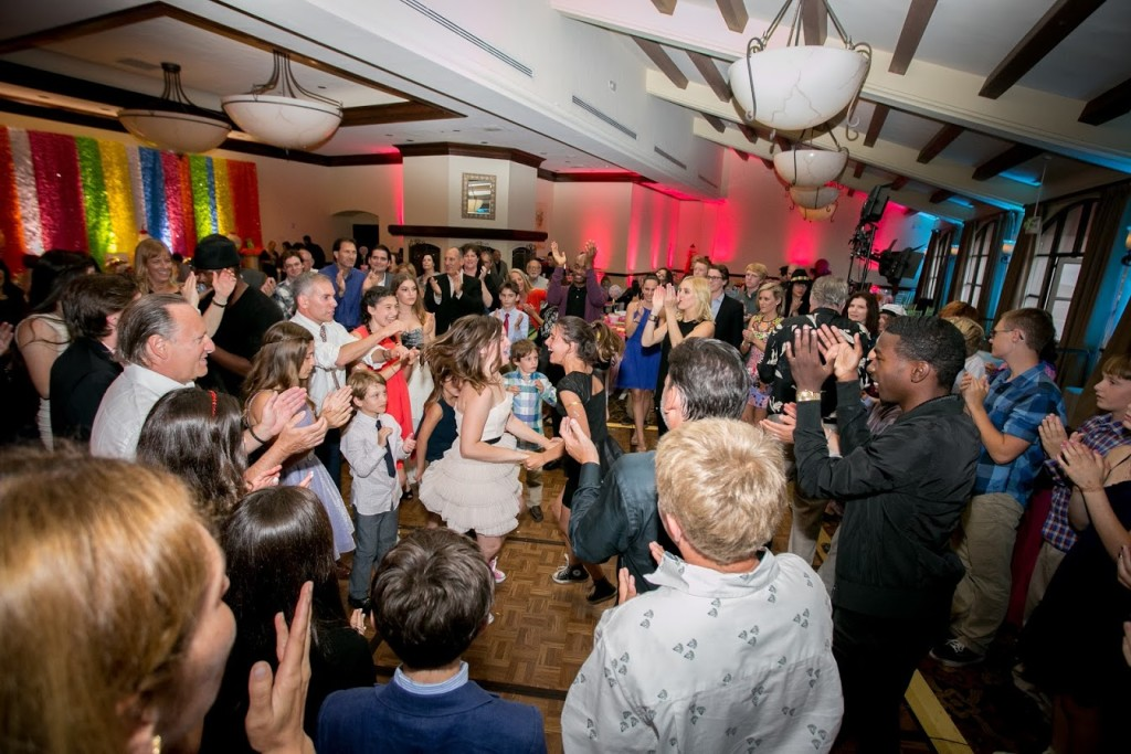 Bat Mitzvah guest of honor dancing for her event