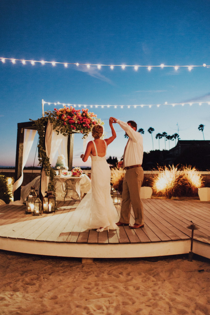 Felici Events Wedding Dancefloor Lighting Candles Floral Flowers Beach Bride Groom