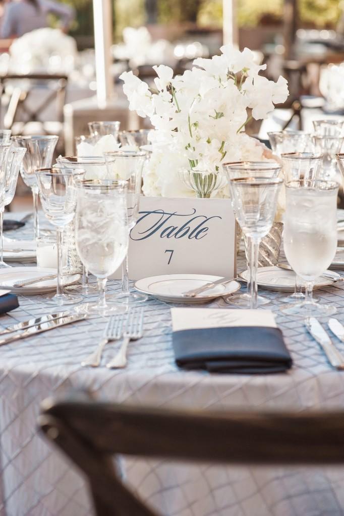 Jill and Jason Table Set Up Felici Events Villa Verano