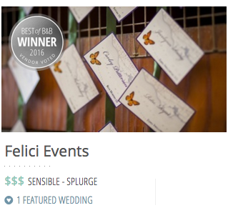 Best Planner Silver Borrowed and Blue Felici Events Award