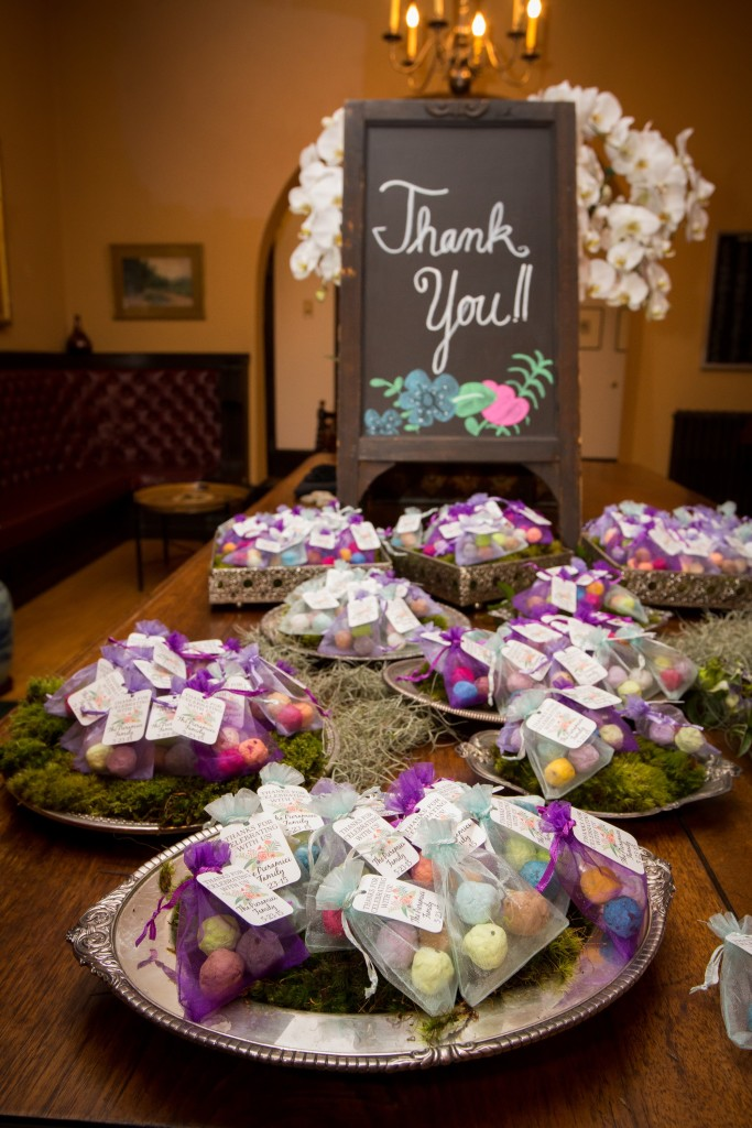 Felici Events Bat Mitzvah Favors Thank You Organza Bags Lilac Purple Mint Sign