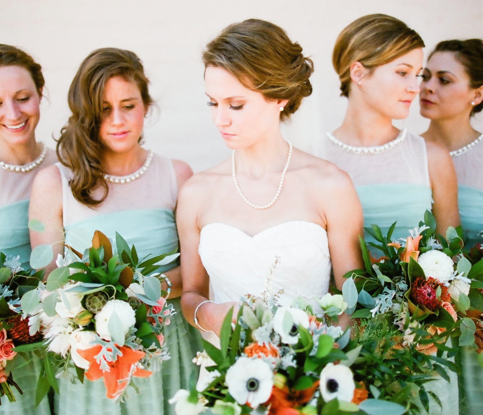 www.felicievents.com | Felici Events | Historical Museum Wedding | Eclectic Orange Wedding | Teal Bridesmaids Dresses